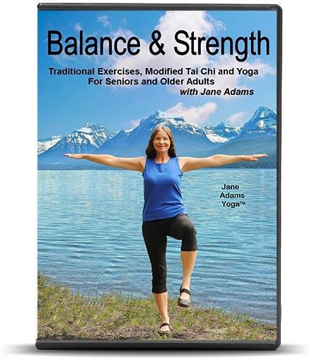 Jane Adams Beginning Gentle Senior Yoga Videos